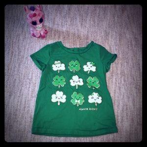 Carter's St. Patrick's Day green clover t-shirt